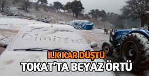 Tokat'ta mevsimin ilk karı düştü