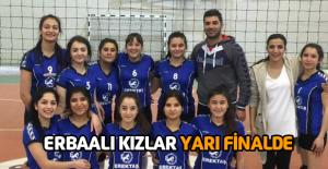 Erbaalı kızlar yarı finale yükseldi