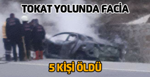 Gökdere yakınlarında kaza 5 kişi hayatını kaybetti