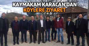 Kaymakam Karacan'dan köylere ziyaret