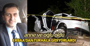 TIR'da yüklü mermerler otomobilin üzerine devrildi: 2 ölü