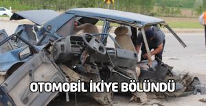 Turhal'da otomobil 2'ye bölündü