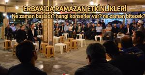 Erbaa'da Ramazan etkinlikleri