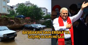 Başbakan Binali Yıldırım'dan Erbaa'daki sel için geçmiş olsun mesajı