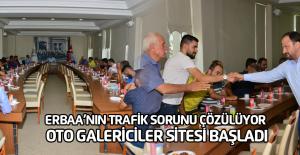 Erbaa'da Oto galericiler sitesi inşaatı başladı