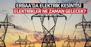 Erbaa#039;da elektrik kesintisi ne...