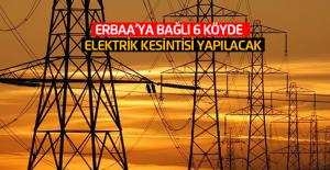 Erbaa#039;ya bağlı 6 köyde elektrik...