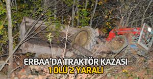 Erbaa#039;da traktör uçuruma yuvarlandı:...
