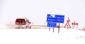 Tokat#039;ta Kar Yağışı Etkili...