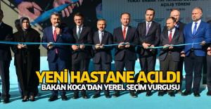 Erbaa Devlet Hastanesi açıldı
