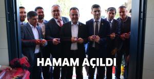 Erbaa'da yapımı tamamlanan hamam açıldı
