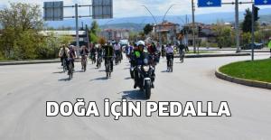 Erbaa'da doğa için pedalla