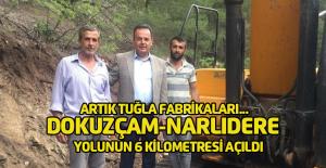 Kaymakam Karacan: 'Dokuzçam-Narlıdere yolunun 6 kilometresi açıldı'