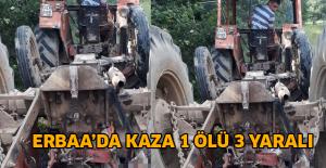 Erbaa#039;da traktör devrildi: 1...