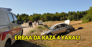 Erbaa#039;da otomobil takla attı...
