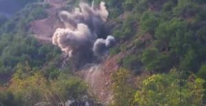 Erbaa#039;da kontrollü patlama kamerada