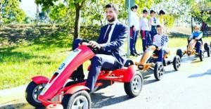Başkan Karagöl trafik eğitim merkezinde...