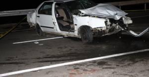 Tokat'ta otomobil bariyere çarptı: 1 ölü, 3 yaralı