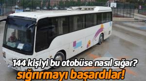 44 kişilik otobüste 144 kaçak göçmen çıktı