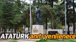 Erbaa'da Atatürk Anıtı Yenilenecek