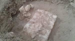 Sondaj çalışmasından Roma dönemine ait sur duvarları çıktı