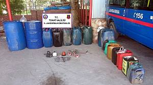 Tokat'ta mazot hırsızları yakalandı