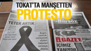 Tokat'ta Teröre Manşetten Protesto