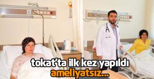 Tokat'ta İlk Kez Ameliyatsız Yöntemle Kalp Deliği Kapatıldı