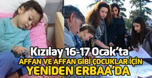 Affan ve Affan gibi çocuklar için Kızılay yeniden Erbaa'da