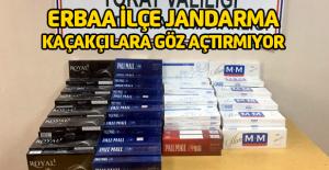 İran uyruklu 5 yolcunun valizinden bin 613 paket kaçak sigara çıktı