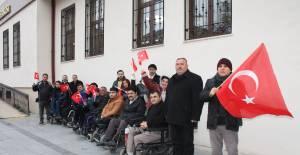 Tokat'ta engelli bireylerden Mehmetçiğe anlamlı destek