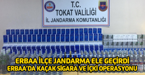 Erbaa'da yolcu otobüslerinde kaçak sigara ve içki ele geçirildi