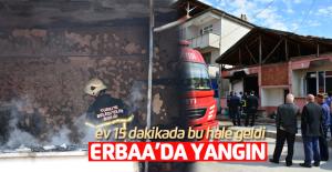 Erbaa'da tek katlı evde korkutan yangın