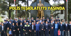 Polis teşkilatının kuruluş yıl dönümü için Erbaa'da tören