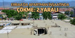 Apartman inşaatında çökme: 2 yaralı