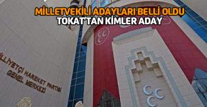 MHP'nin Tokat Milletvekili Adayları belli oldu