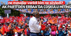 Ak Parti'den Erbaa'da coşkulu miting