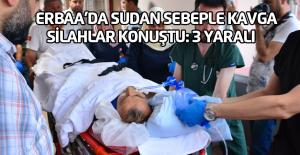 Erbaa'da iki aile arasında silahlı kavga: 3 yaralı