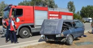Niksar'da kaza 1 ölü 8 yaralı