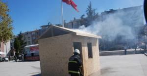 Tokat'ta ilk yardım ve yangın söndürme tatbikatı