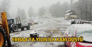 Erbaa'ya yılın ilk karı düştü