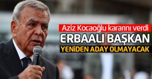 Erbaalı Aziz Kocaoğlu aday olmayacağını açıkladı