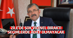 Başkan Vidinel, yerel seçimlerde aday olmayacağını açıkladı