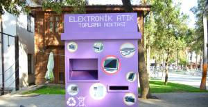 Erbaa'da elektronik atık toplama kutusu