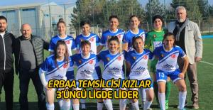 Erbaalı kızlar 3'üncü Ligde lider