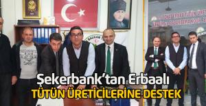 Şekerbank'tan Erbaalı tütün üreticilerine finansman desteği