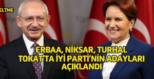 İYİ Parti Tokat'ta bazı ilçe ve beldelerin adaylarını açıkladı