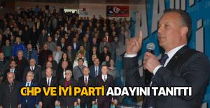 Erbaa'da CHP ve İYİ Parti aday tanıtım toplantısı düzenledi