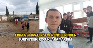 Erbaalı öğrencilerden Suriye'deki çocuklara yardım