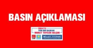 Millet İttifakı'nın adayı Murat Toycan Selçuk'tan bilboard açıklaması